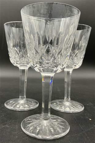 Set 4 WATERFORD Cut Crystal Stemware Goblets