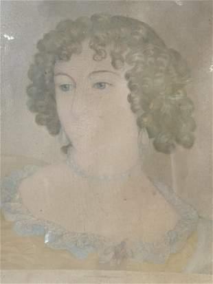 Antique French Portrait Lithograph