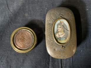 Lot 2 Antique Pill & Soap Boxes