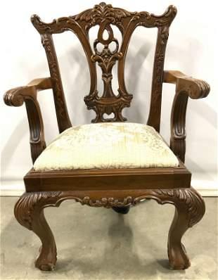 Vintage Carved Wooden Victorian Children's Chair