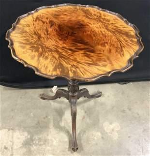 FERGUSON BROS Vintage Wooden Pie Crust Table