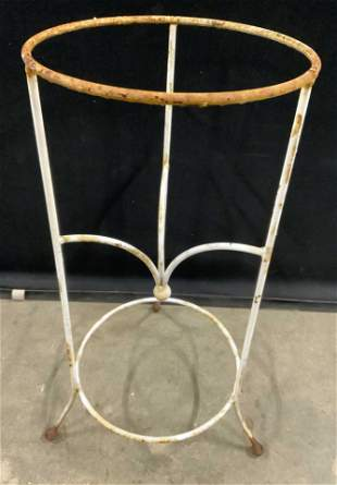Vintage Outdoor Iron Footed Plant Stand