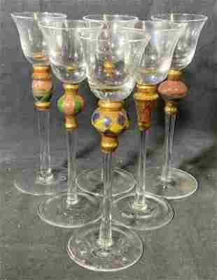Set Glass Cordial Stemware
