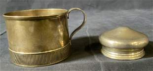 Vintage Sterling GORHAM Cup & WHITING CO Lid