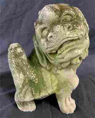 Vintage Garden Stone Foo Dog Statue