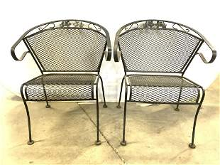 Set 4 Vintage Outdoor Patio Chairs