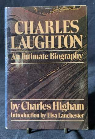 Charles Laughton Book Signed by Elsa Lanchester