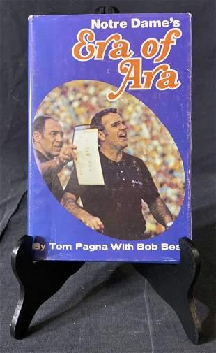 Tom Pagna & Ara Parseghian Signed Notre Dame Book