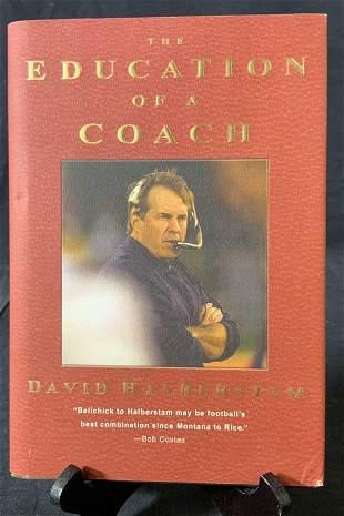 Signed David Halberstam Education of a Coach Book