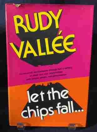 Signed RUDY VALLÉE To REGIS PHILBIN, Book