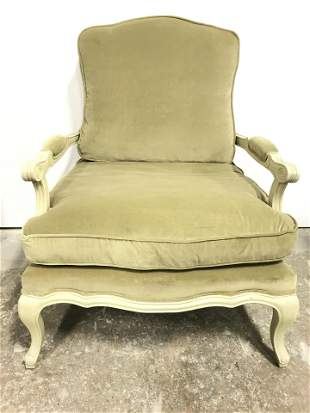 Vintage Olive Toned Caned Bergere Chair