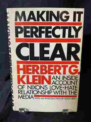 Signed HERBERT G KLEIN To REGIS PHILBIN, Book