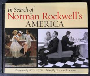 Signed Norman Rockwell Coffee Table Book