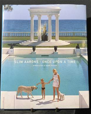 ONCE UPON A TIME Signed by SLIM AARONS, Photo Book