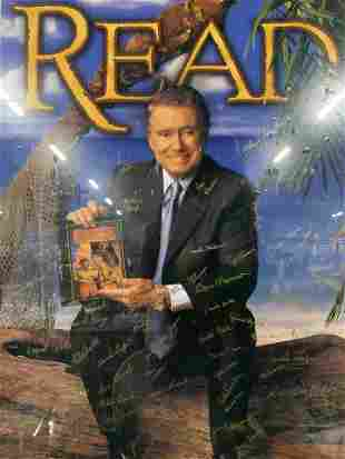 REGIS PHILBIN Signed Read Poster