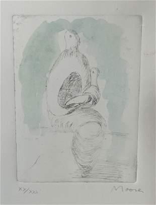 HENRY MOORE Signed Ltd Ed Lithograph Artwork