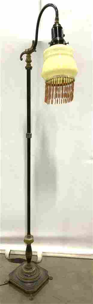 REMBRANDT Metal Floor Lamp W Glass Shade