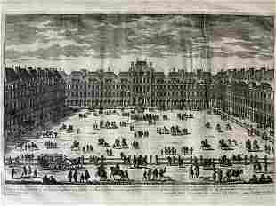 GABRIEL PERELLE La Place Royale Etching Artwork