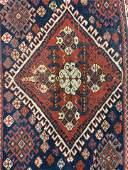Antique Caucasian Handmade Wool Rug Section