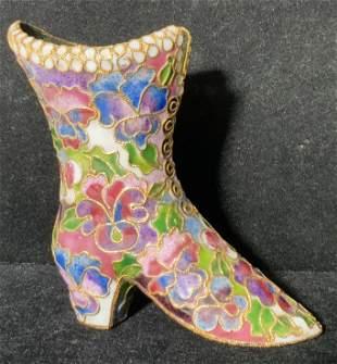 Cloisonné Heeled Shoe Form Figural