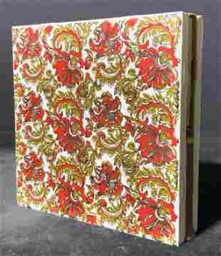 Floral Porcelain Coaster & Matchbox Holder