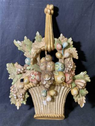 German Hand Painted Wooden Wall Ornament