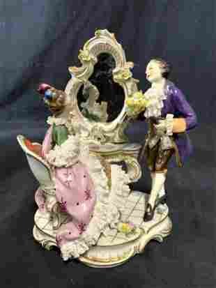 Vintage Porcelain Male & Female Vanity Figure