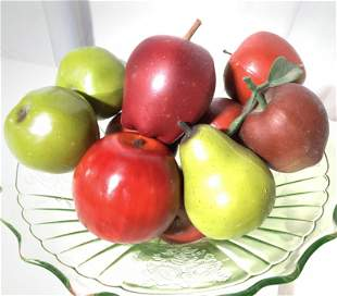 Lot Faux Red Apples & Green Pears Table Decor