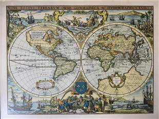 HENRICUS HONDIUS Map of the World