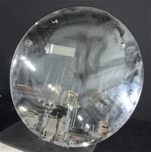 Round Beveled Retro Unframed Mirror
