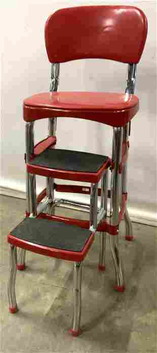 Vintage Red COSCO Stepstool Chair