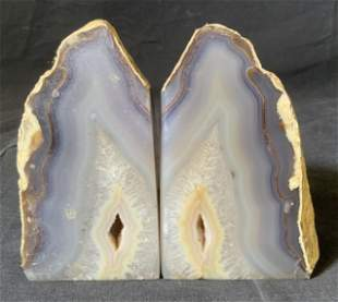 Pair Geode Bookends