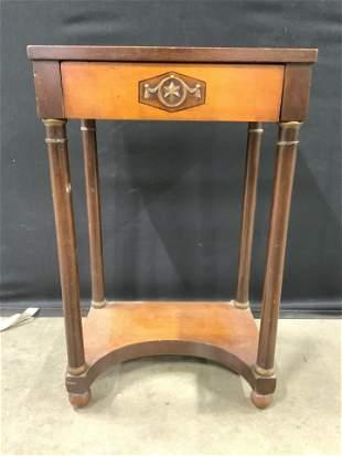 Vintage Carved Wooden Footed Side Table