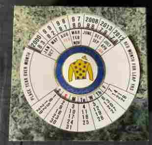 Sunrise Farms Paperweight with Circular Calendar