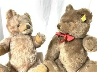 Collectible Vntg Pair STEIFF TEDDY BEARS, Austria