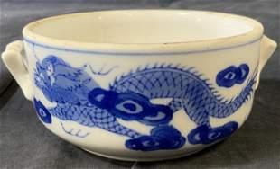 Asian Dragon Porcelain Bowl