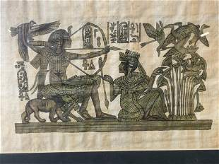 Egyptian Style Painting on Papyrus