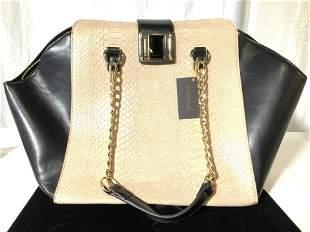 BEBE Snakeskin Style Chain Lrg Hand Bag, Org tag