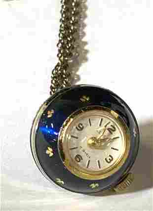 ELOGA Globe Ball Watch Pendant on Necklace