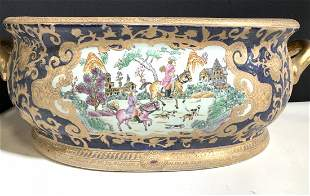 Signed Chinese Porcelain Chinoiserie Vessel