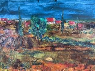 GERARD ECONOMOS Signed Oil Painting Artwork
