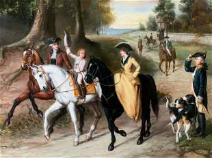 CHRISTIAN Signed Oil Painting Artwork