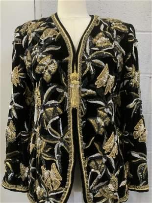 OSCAR DE LA RENTA Beaded Fashion Blazer