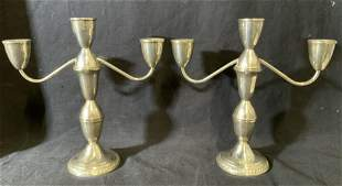 Pair Sterling DUCHIN CREATION Candlestick Holders