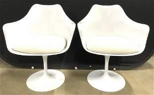 Pr EERO SAARINEN Tulip Chairs W Cushions