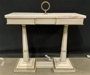 Empire Style Marble Top Side Table C 1960's