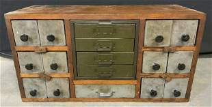 Antique Carved Wooden Cheese-Cupboard