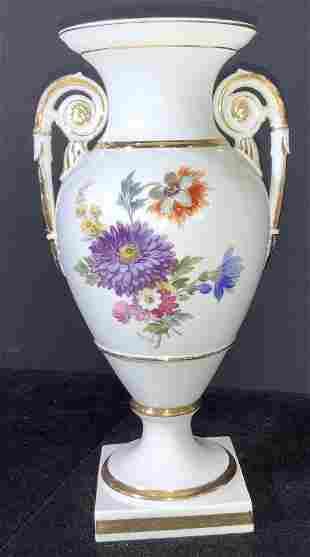 MEISSEN Floral & Guilt Empire Urn, Marked