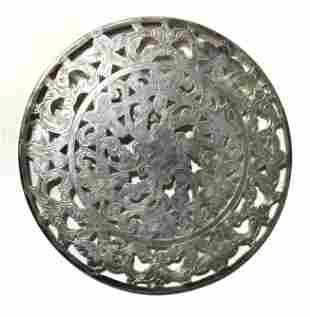 WEBSTER Sterling Silver Pierced Coaster Set 8