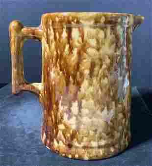 Vintage Splatterware Ceramic Pitcher